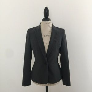Anne Klein Grey Wool Blend Peplum Blazer Jacket 6